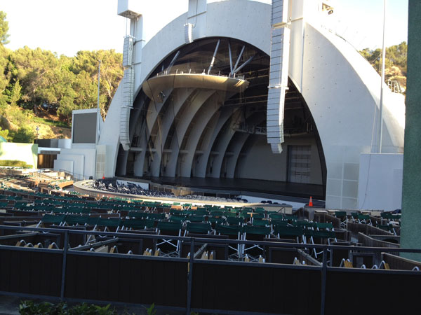Hollywood Bowl Section D Row 1 Seat 22