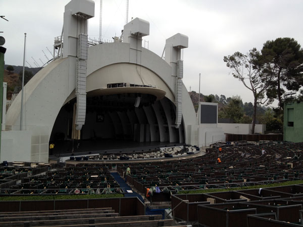 Hollywood Bowl Section E Row 13 seats 5 thru 11