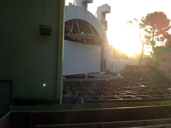 Hollywood Bowl Section E Row 7 seat 47