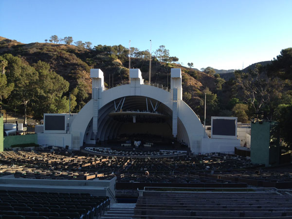 Hollywood Bowl Section G2 Row 21