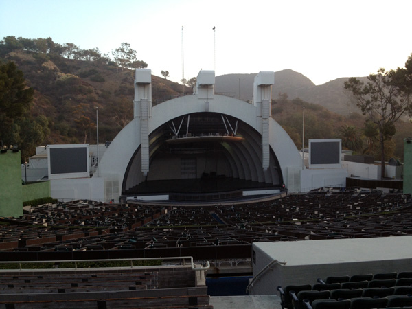 Hollywood Bowl Section J2 Row 14 Seat 1