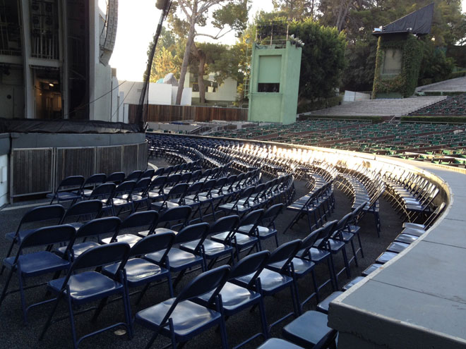 Pool Section Boxes Or Folding Chairs Hollywood Bowl