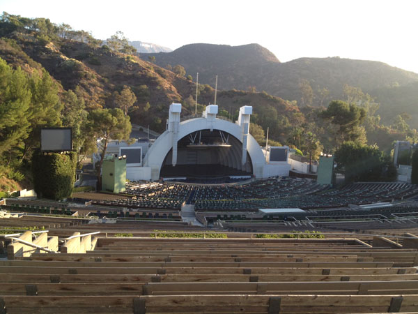 Hollywood Bowl Section U1 Row 18 seat 22