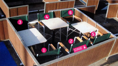 Sixboxseating for Terrace 2 hollywood bowl