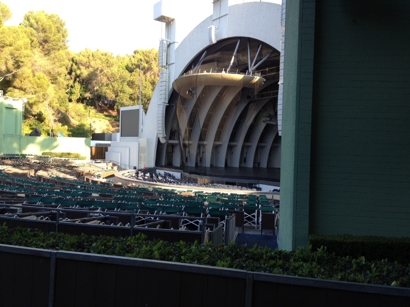 Hollywood Bowl section D row 3 seat 40