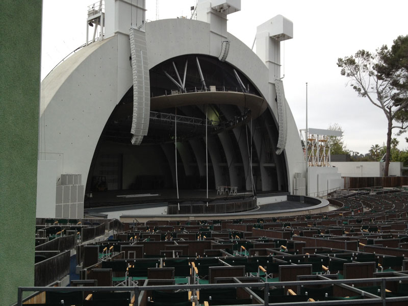 Hollywood Bowl section E row 1 seat 23