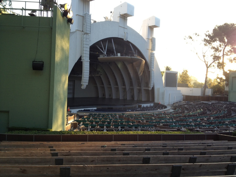 Hollywood Bowl section E row 12 seat 37