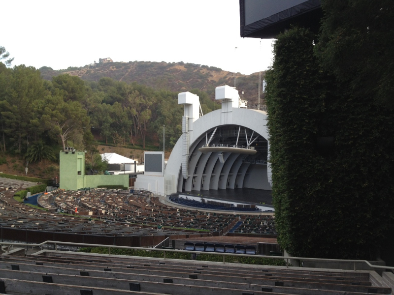 Hollywood Bowl Section F3 Row 9 Seat 18
