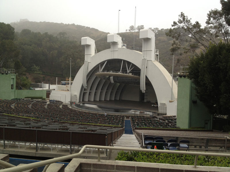 Hollywood Bowl section F3 row 5 seat 6