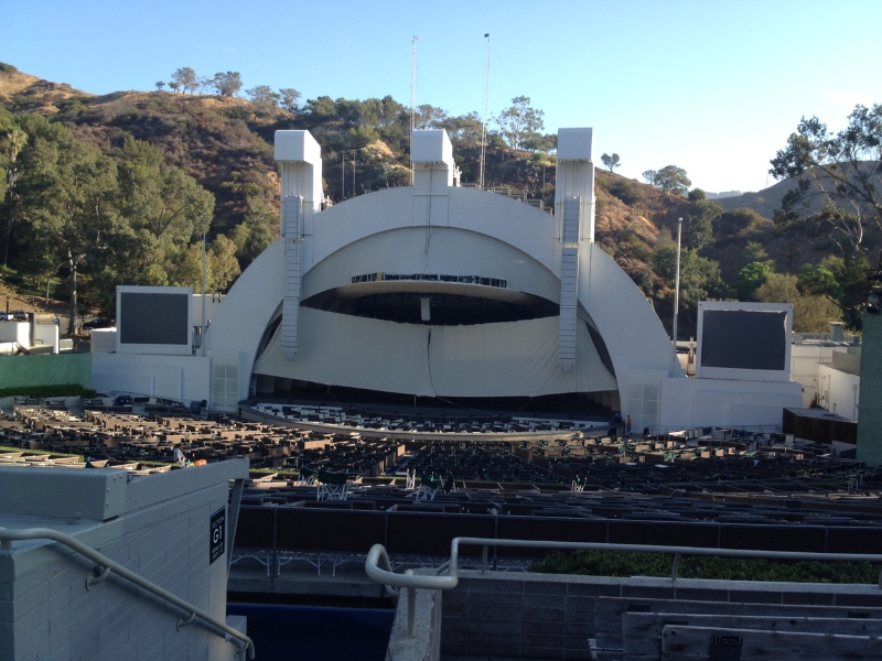 Hollywood Bowl section G2 row 8 seat 4