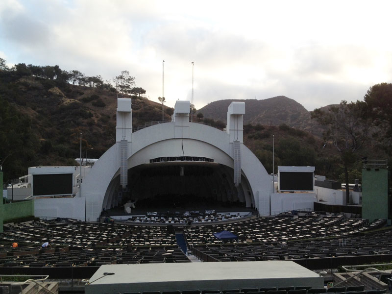 Hollywood Bowl section J1 row 17 seat 14