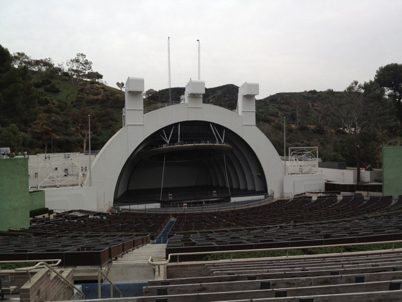 Hollywood Bowl Section J2 Row 13 Seat 41