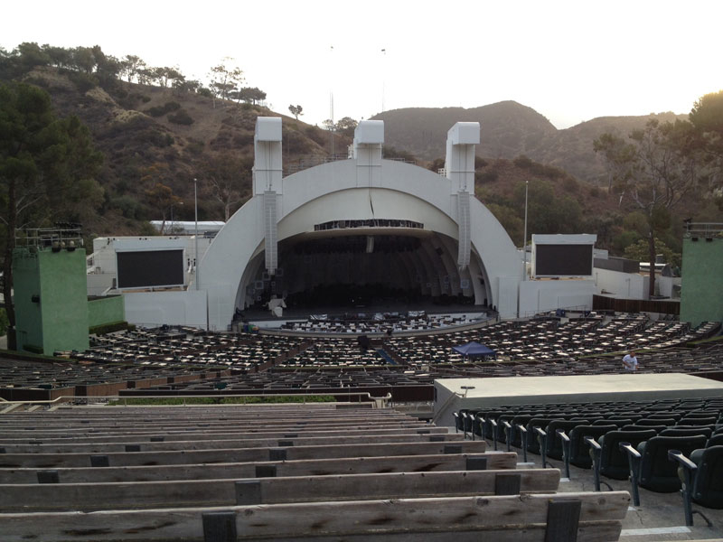 Hollywood Bowl section J2 row 22 seat 7