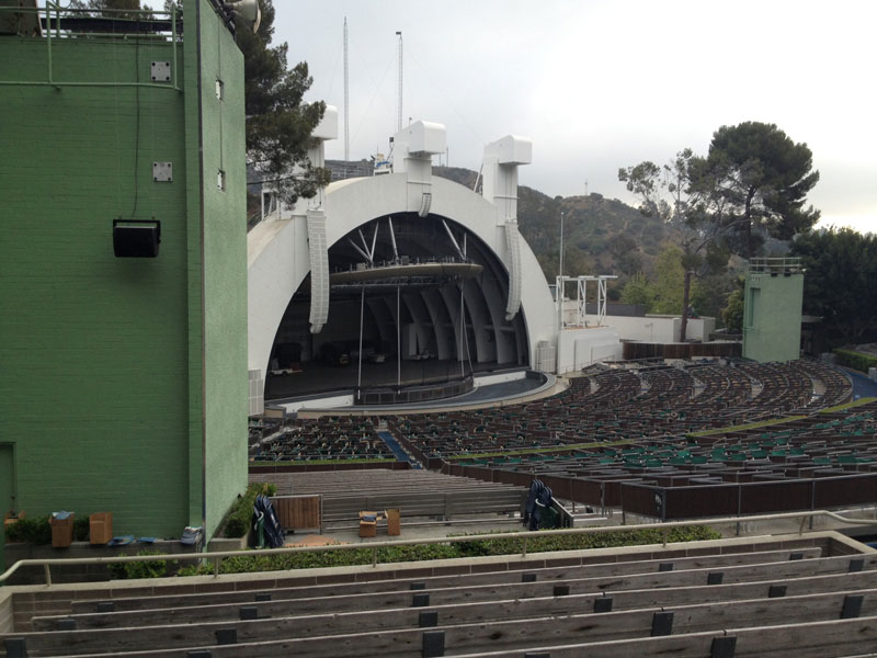 Hollywood Bowl section K3 row 11 seat 29