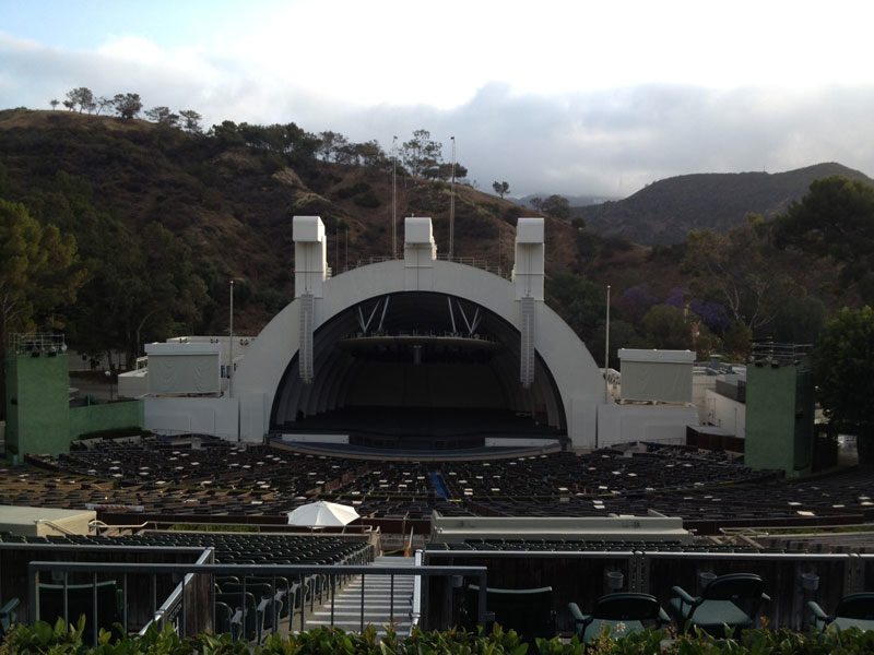 Hollywood Bowl section m1 Row 1 seat 9