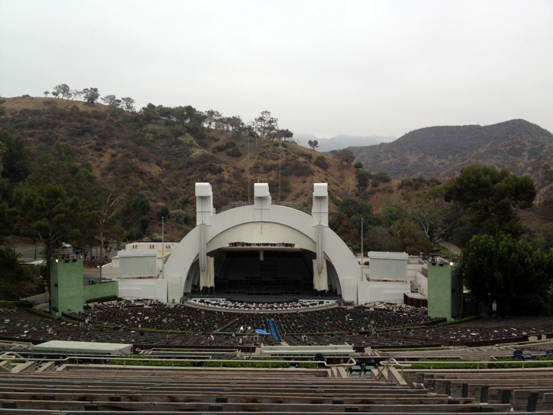 Hollywood Bowl section M1 row 21 seat 11