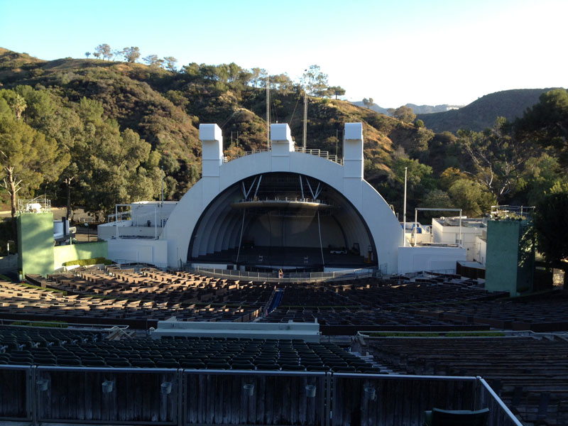 Hollywood Bowl Section M2 Row 1 Seat 110