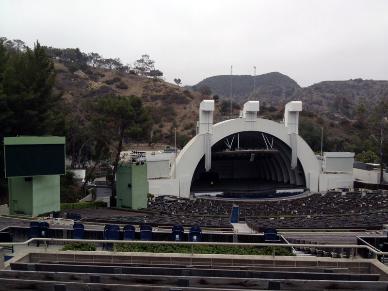 Hollywood Bowl section P1 row 9 seat 22