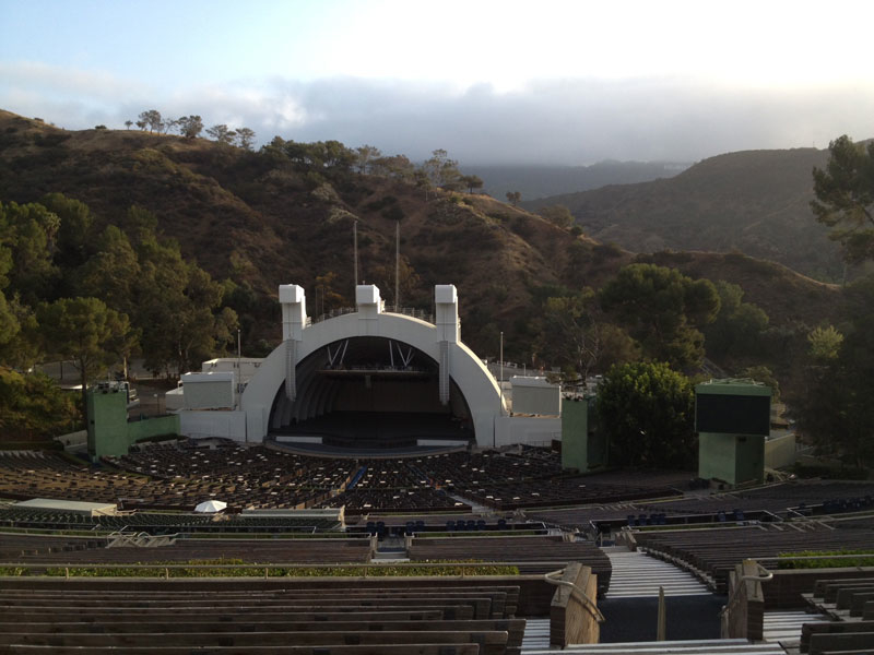 Hollywood Bowl section Q1 row 17 seat 75