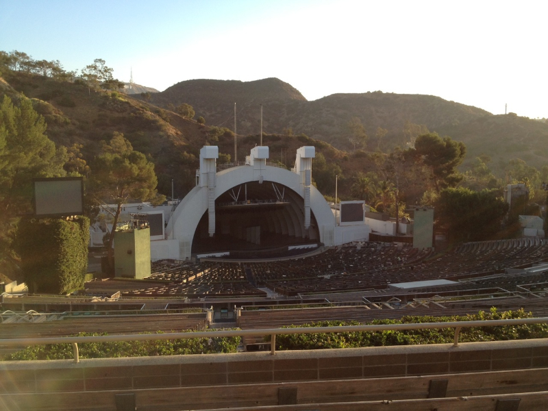 Hollywood Bowl section U2 row 6 seat 110