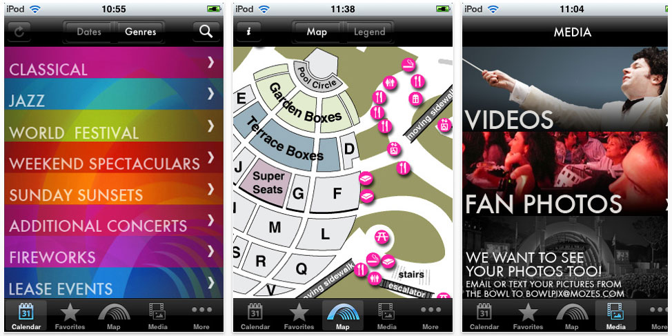 Hollywood Bowl iPhone app