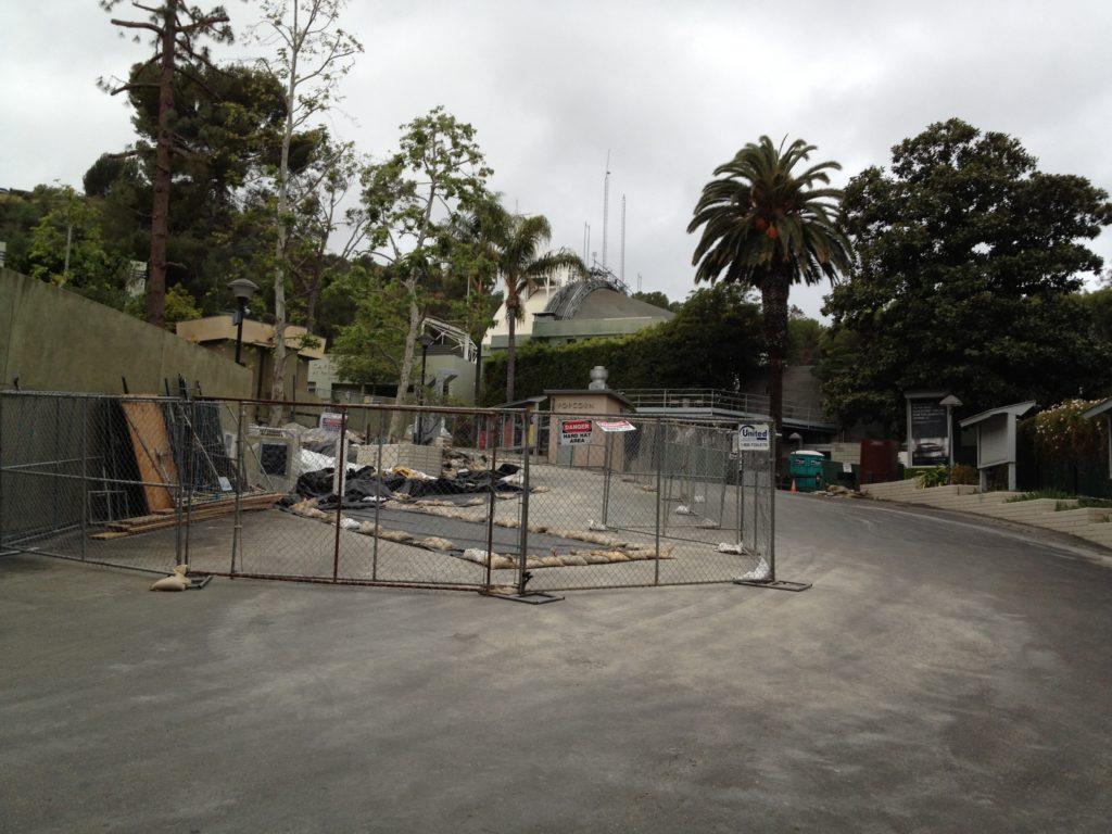 Hollywood Bowl 2012 construction