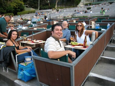 Hollywood Bowl Box Seats