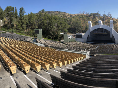 Hollywood Bowl seats