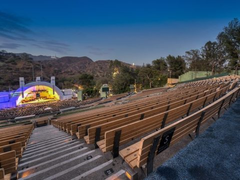 Hollywood Bowl bench seats