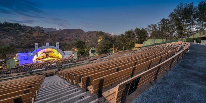 Hollywood Bowl bench seats